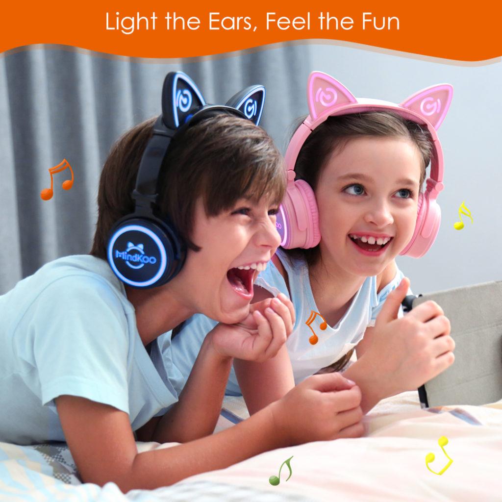 cat ear lighting headphones