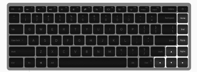 mi notebook pro keybaord