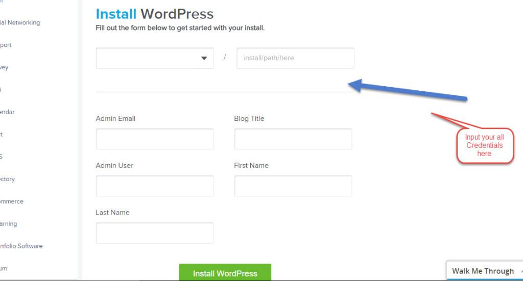 Cpanle WordPress installation