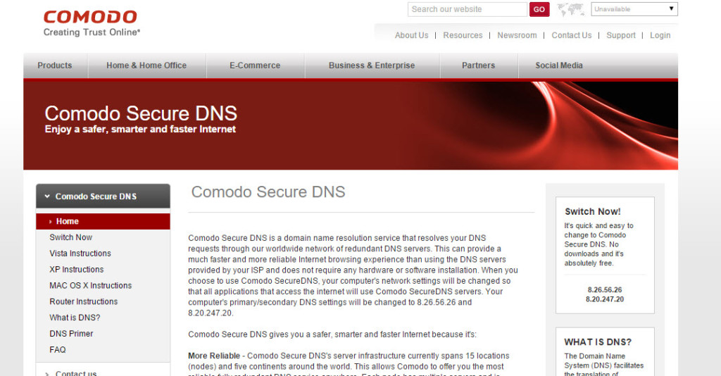 Comodo DNS