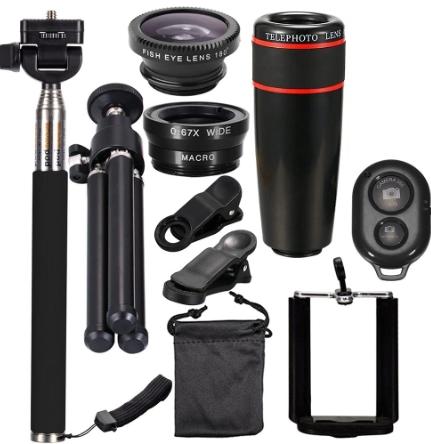8X Telephoto Mobile Phone Lens Kit
